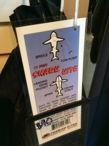 Make your own sharknado! 11 foot nylon shark kite. $90