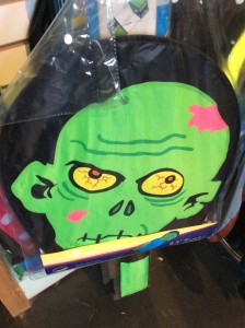 Zombie kite. Unfolds into a 9.5' handsome zombie from head to toe. $80