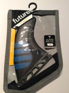 Futures F6 Alpha tri thruster fins. Size medium. $130
