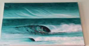 Wave painting done by Sarah Goodhardt. $250