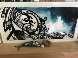 """""""Early Summer Swell"""" print by Rika. (Large) $75"""