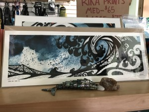 """""""Glass Axe-Tofino"""" print by Rika. (Small) $65"""