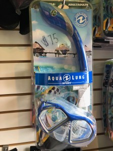 Aqua Lung Pro Series: Trooper Mask. Hypoallergenic silicone face skirt provides ultimate comfort and perfect fit to keep water out of the mask. Submersible Pivot-Dry technology in snorkel keeps water out. $75