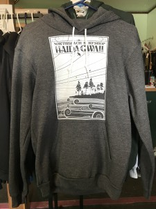 NBSS pullover hoodies in gray, black, and navy blue. $70