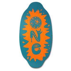 Channel One Skimboard - Aqua Orange Kick start your skimboarding off on the right board. The Kayotics Channel One series are the best way to get into the game $100