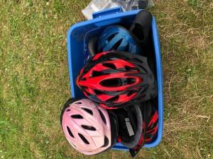 Bike helmets. $10 and $20.